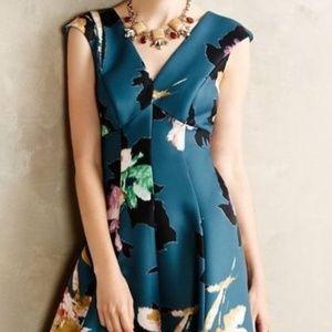 Moulinette Soeurs Turquoise floral party dress